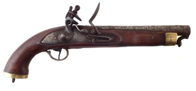 Lot 2-Flintlock belt pistol