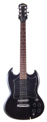 Lot 37-Epiphone SG with guitar stand