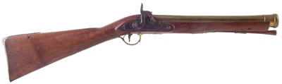 Lot 16-Percussion blunderbuss by Williams
