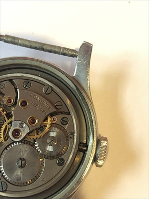 Lot 280-A mid 20th century Longines stainless steel watch