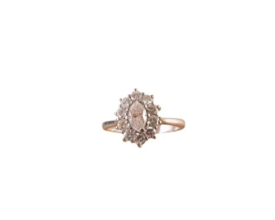 Lot 199-A Boodles & Dunthorne diamond cluster ring