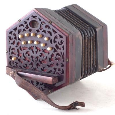 Lot 34-Lachenal 20 key concertina
