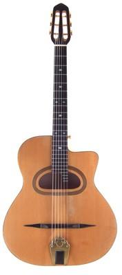 Lot 59-Handmade Selmer style guitar in case