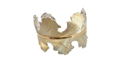 Lot 56-A German silver cuff bangle