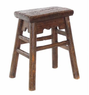 Lot 610 - 19th century Indian pine and hardwood stool