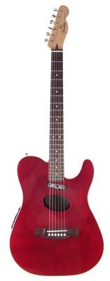 Lot 53-Fender Telecoustic electric acoustic guitar with soft case