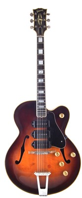Lot 48-Gibson ES-5 archtop guitar with case