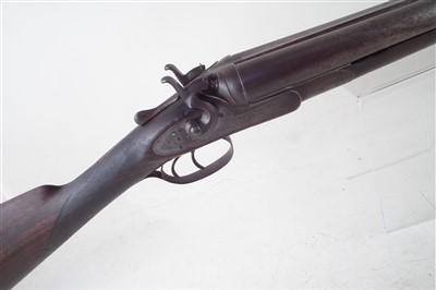 Lot 63-Greener 12 bore hammer gun stock and action