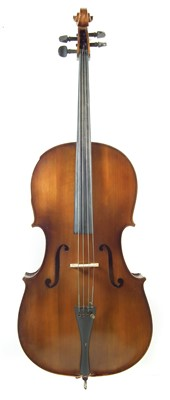 Lot 6-Boosey and Hawkes Golden Strad Cello with bow and case