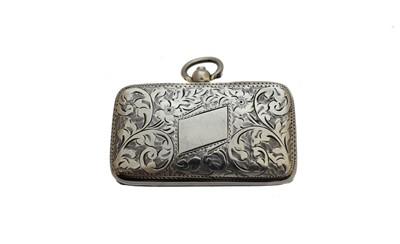 Lot 21-An Edwardian silver double sovereign case