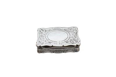 Lot 7-A Victorian silver snuff box