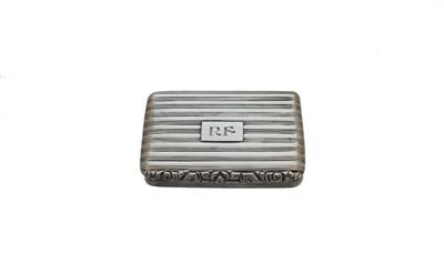 Lot 5-A George IV silver snuff box