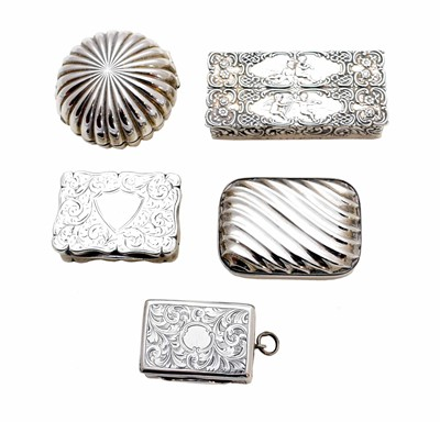 Lot 10-A selection of silver snuff boxes