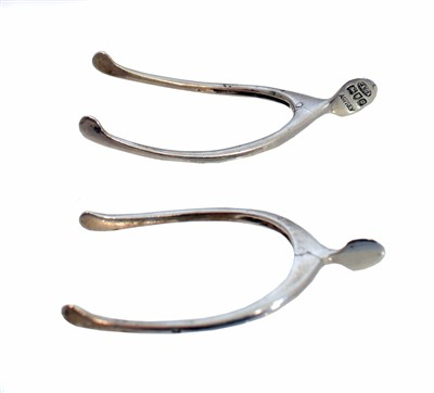 Lot 14-Two early 20th Century silver sugar nips