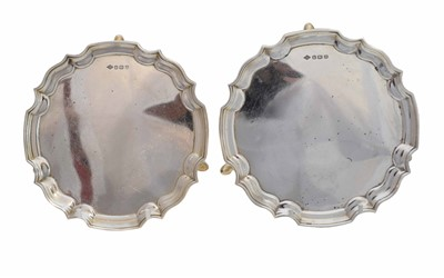 Lot 39-A pair of 1960's miniature silver salvers