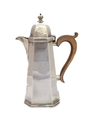 Lot 31-A 1920's silver hot water jug