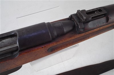 Lot 28-Steyr M95 8mm straight pull rifle serial number 8126K