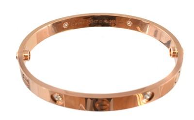 Lot 52-A Cartier diamond LOVE bangle