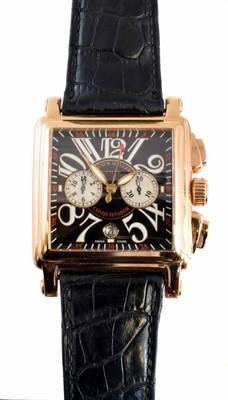 Lot 274-An 18ct gold Franck Muller Conquistador Cortez wristwatch
