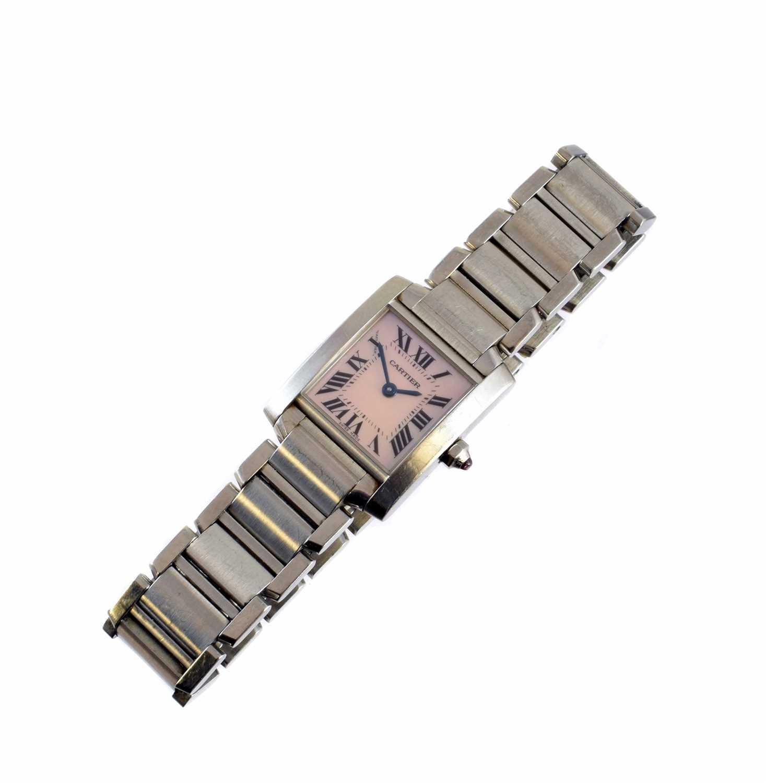272 - A Cartier stainless steel Tank Francaise wristwatch,