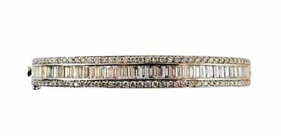 Lot 57-A diamond hinged bangle