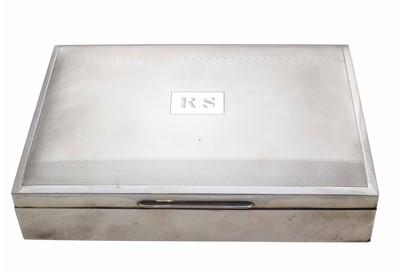 Lot 38-A 1960s silver cigar box