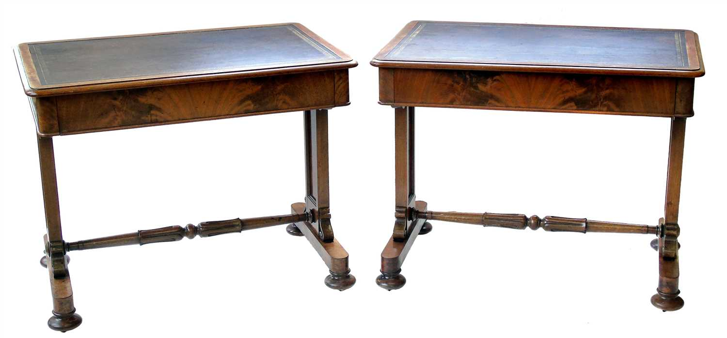 593 - A pair of Victorian mahogany writing tables