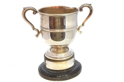 Lot 37-A 1960's silver trophy