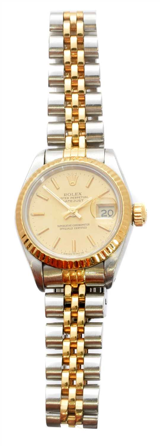 Lot 300-A ladies Rolex Oyster Perpetual Datejust wristwatch