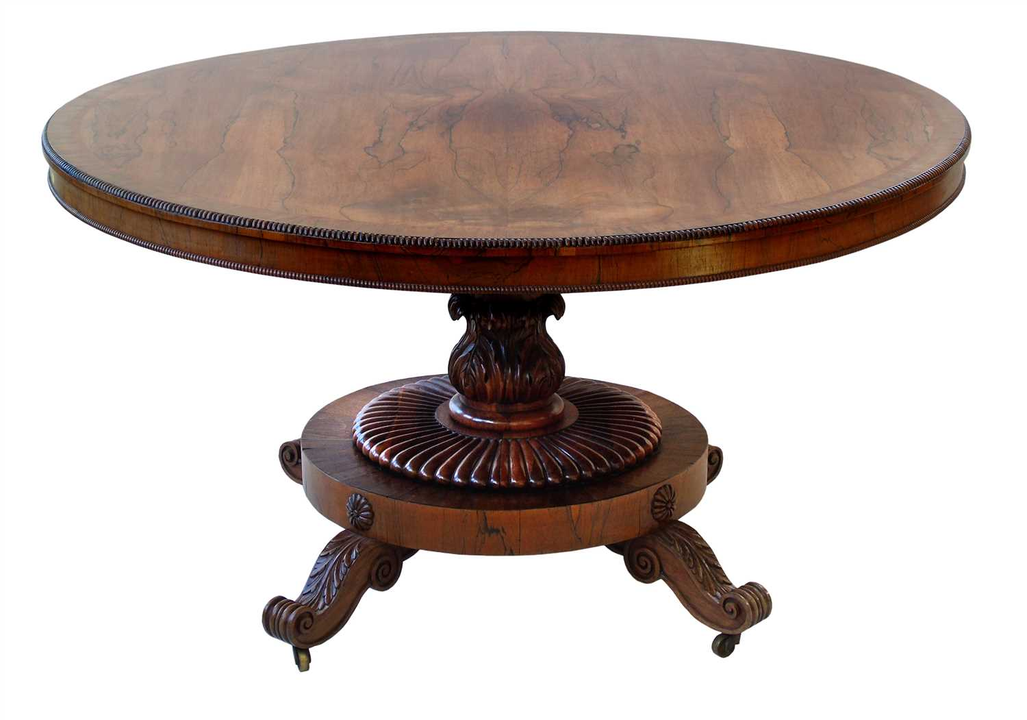 616 - William IV rosewood loo table.
