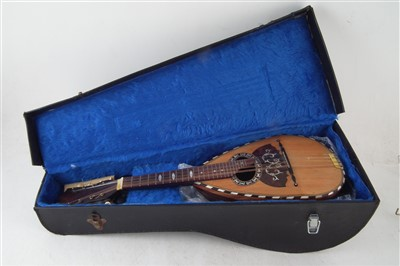 Lot 19-Bowl back mandolin in case.