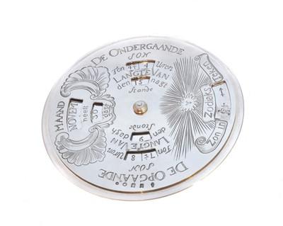 Lot 47-A Dutch silver perpetual calendar