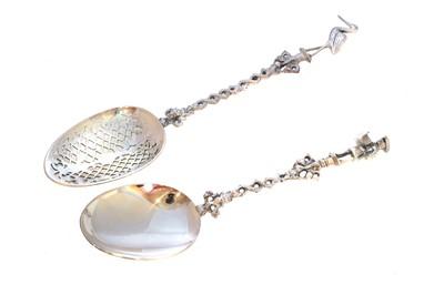 Lot 44 - Two Dutch silver spoons