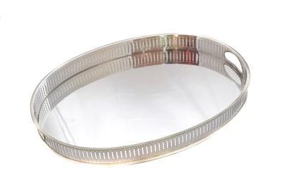 Lot 42-An Elizabeth II silver tray