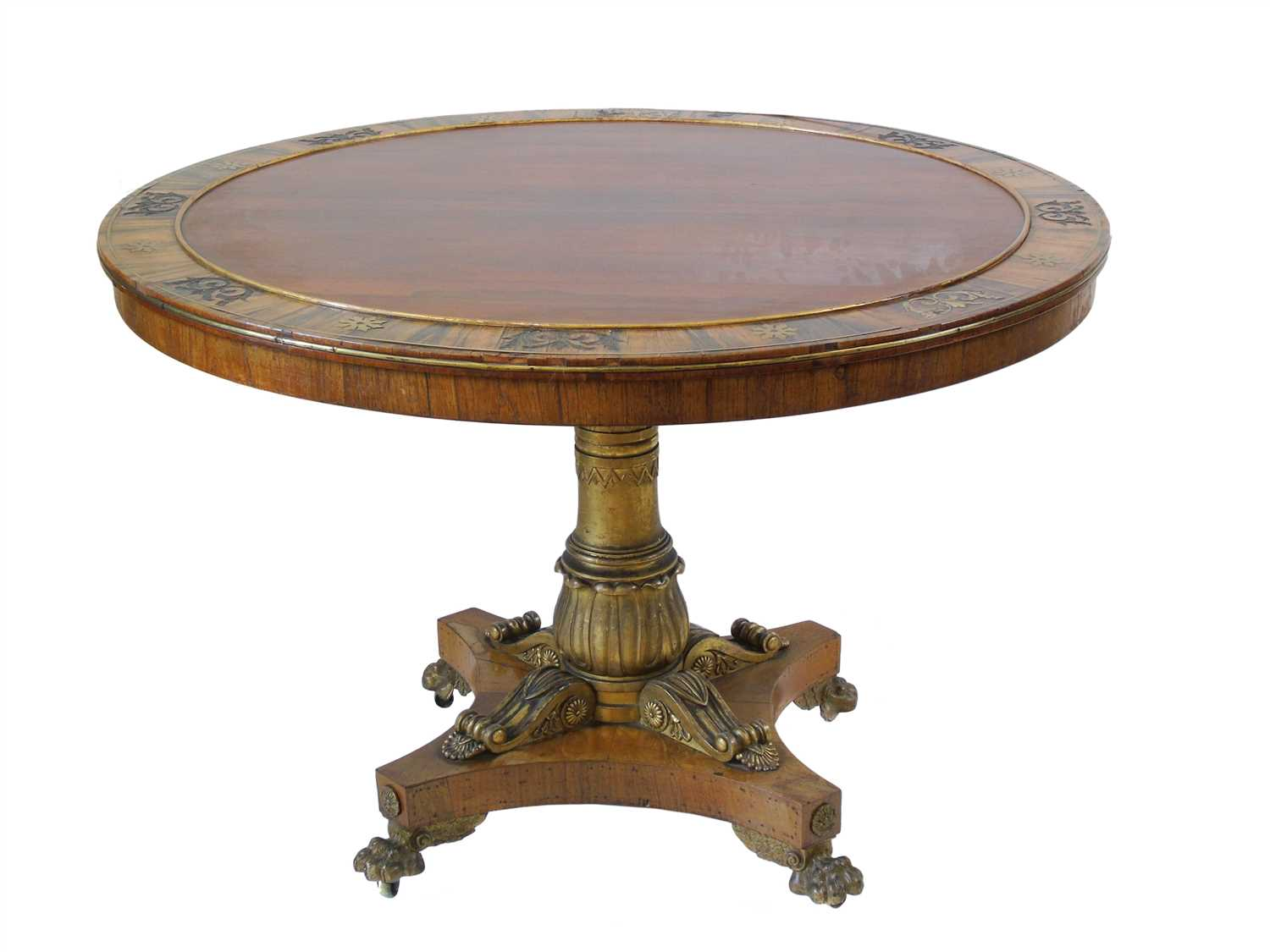 640 - Regency rosewood centre table