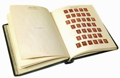 Lot 88-GB stamp collection in Windsor album.