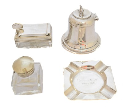 Lot 11-A collection of silver inkwells