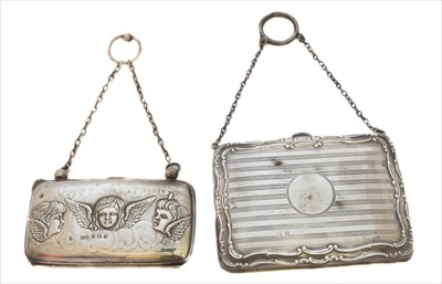 Lot 13-Two early 20th Century silver purses
