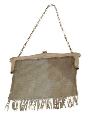 Lot 3-A George VI silver mesh purse