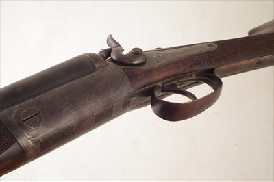 Lot 36-Army and Navy cased 28 bore side by side hammer gun