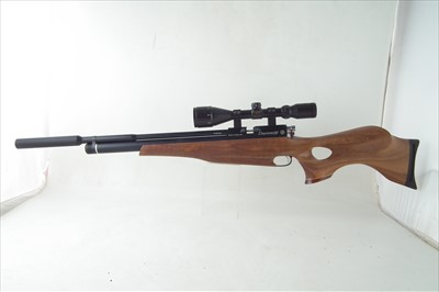 Lot 33 - Firearms certificated Daystate X2 air rifle .22 with BSA scope, magazine and adaptor