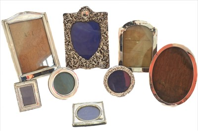 Lot 23-A selection of early 20th century silver photograph frames