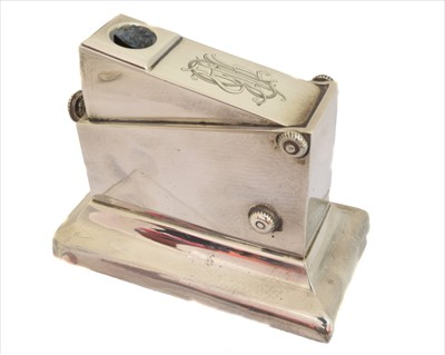 Lot 5-A late Victorian silver cigar cutter