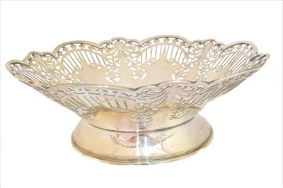 Lot 8-A George IV silver fruit bowl