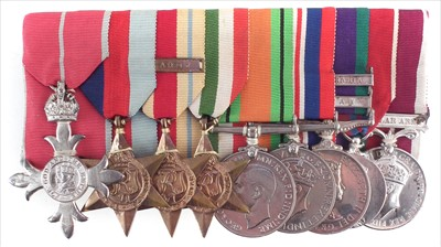 Lot 287-Lieutenant Colonel R.A. Bowman M.B.E. 16/5 Lancers medals and related items.