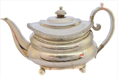 Lot 39-A George III silver teapot