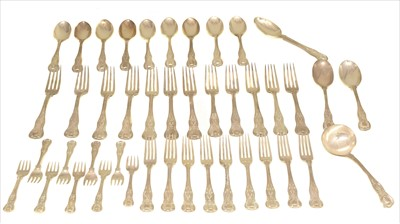 Lot 28-A set of Victorian silver cutlery