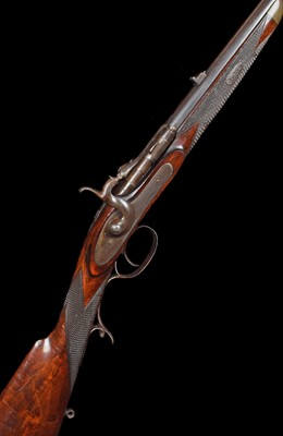 Lot 8-Thomas Bland .360 no.5 Snider action Rook Rifle