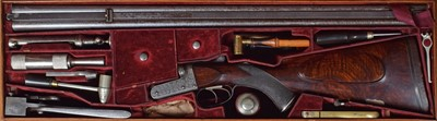 Lot 14-Cased Alexander Henry .450 3 1/4 double rifle serial number 6803