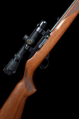 Lot 26-Ruger 10/22 .22lr semi automatic rifle with Parker Hale sound moderator